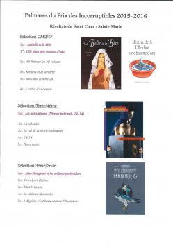 Affiche resultats votes prix litteraires ecole college lycee juin 2016