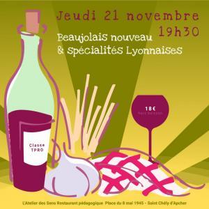 Beaujolais nouveau et specialites lyonnaises 21 11 19