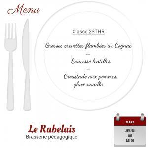 Brasserie le rabelais 05 03 20