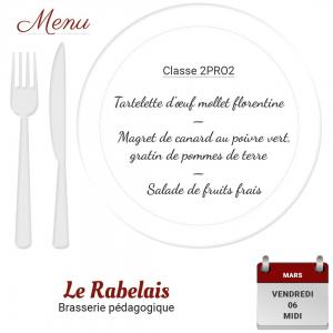 Brasserie le rabelais 06 03 20