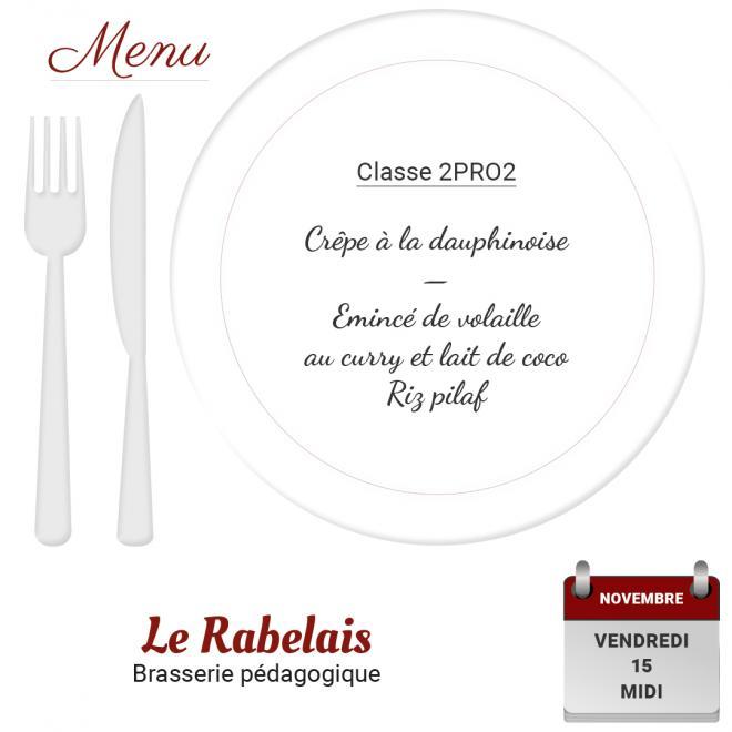 Brasserie le rabelais 15 11 19