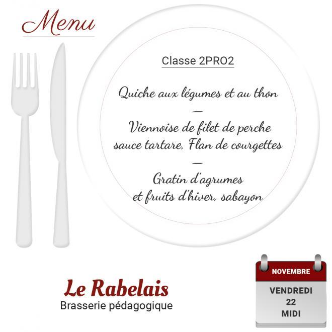 Brasserie le rabelais 22 11 19