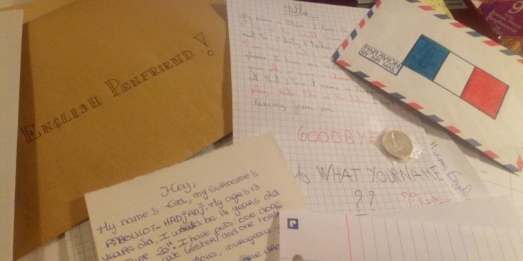 Echanges de correspondances entre les élèves de 3ème et anglais