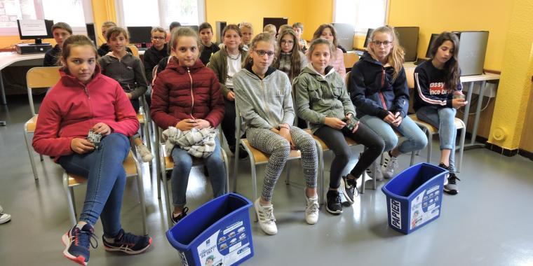 Interventions du SDEE de Mende sur le tri des déchets pour les 6ème