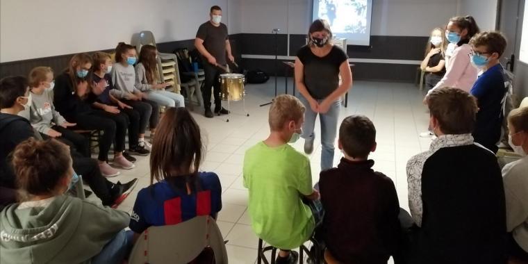 Intervention du Duo Bocage en cours de Musique pour les collégiens