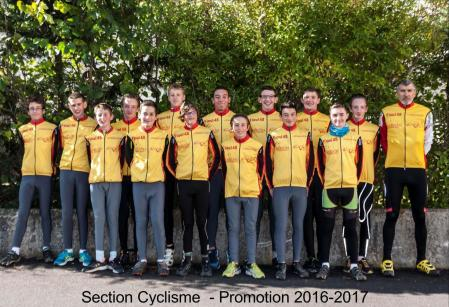Groupe section cyclisme 2016 2017 page 1