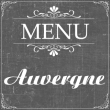 Menu Auvergne