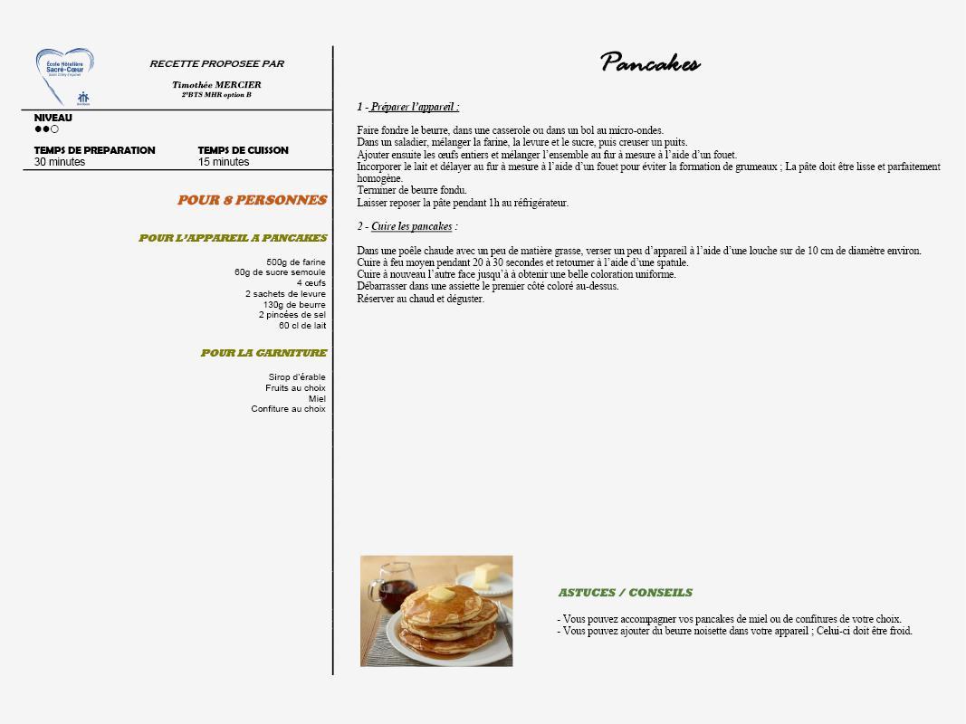 Pancakes de Timothée