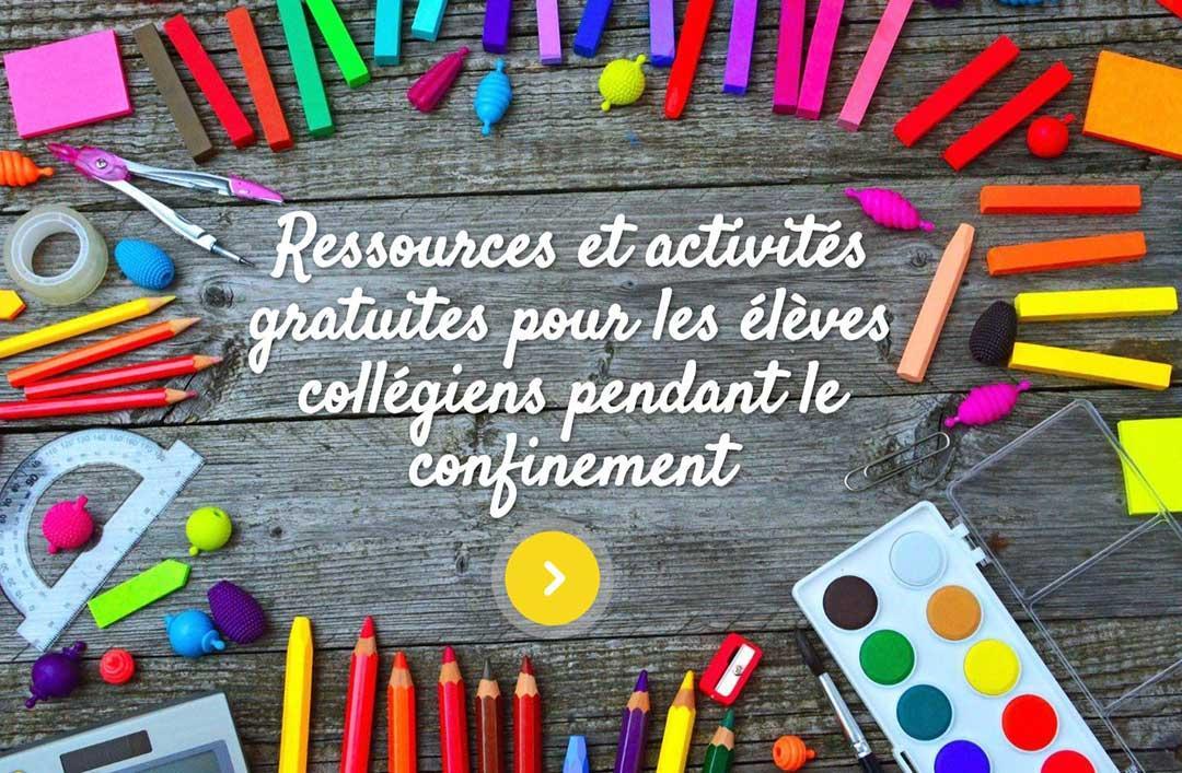 Ressources et activités gratuites   Collège