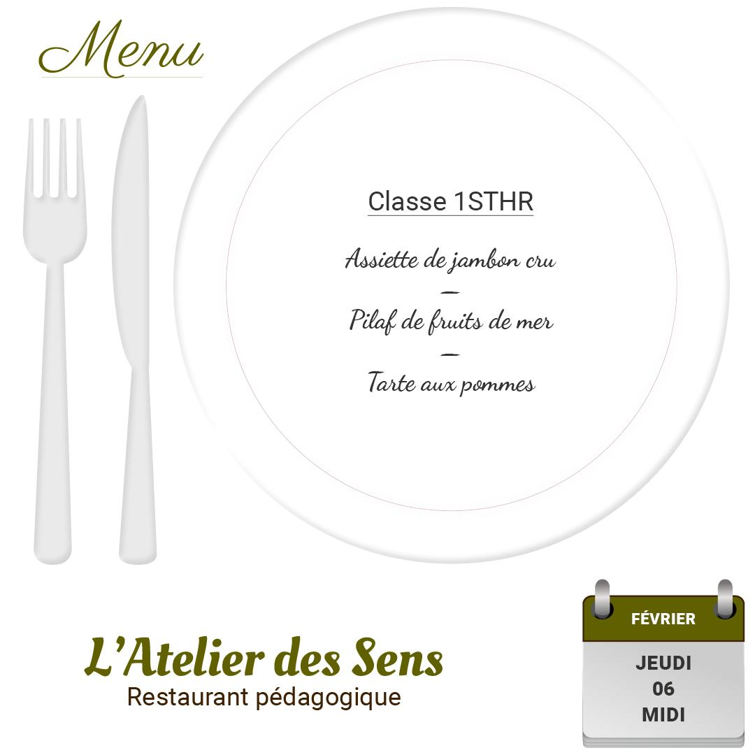 Restaurant l atelier des sens 06 02 2020 midi