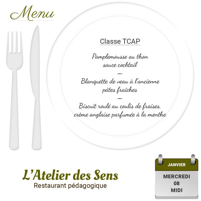 Restaurant l'Atelier des Sens 08 01 2020 midi
