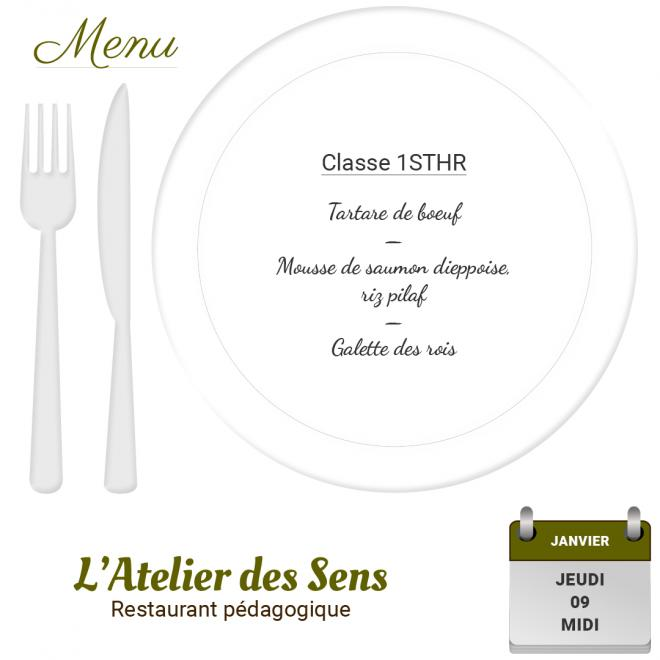 Restaurant l'Atelier des Sens 09 01 2020 midi