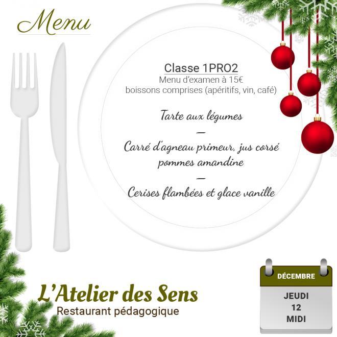 Restaurant l atelier des sens 12 12 19 midi