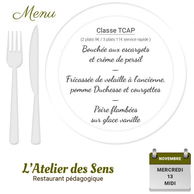 Restaurant l atelier des sens 13 11 19 midi