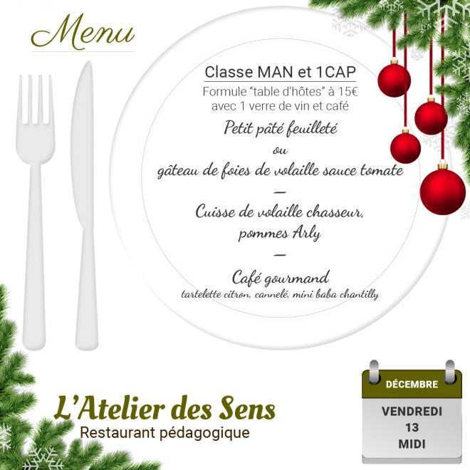 Restaurant l atelier des sens 13 12 19 midi