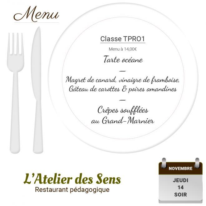 Restaurant l atelier des sens 14 11 19 soir