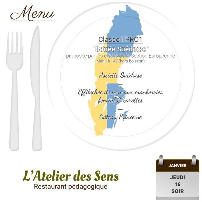 Restaurant l'Atelier des Sens 16 01 20 soir