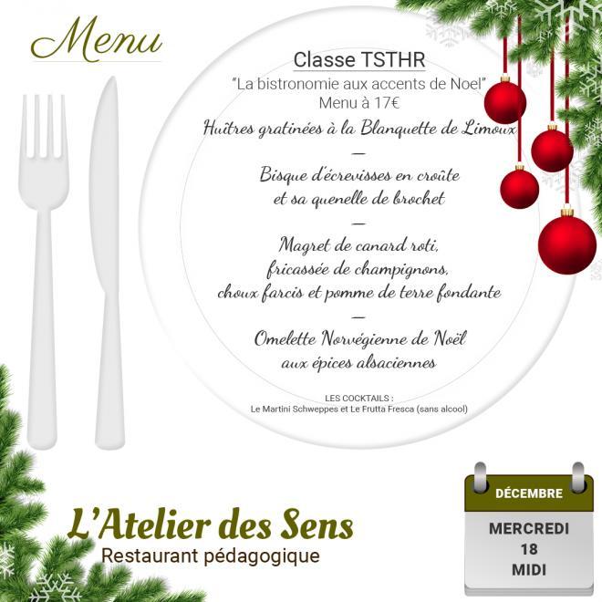 Restaurant l atelier des sens 18 12 19 midi