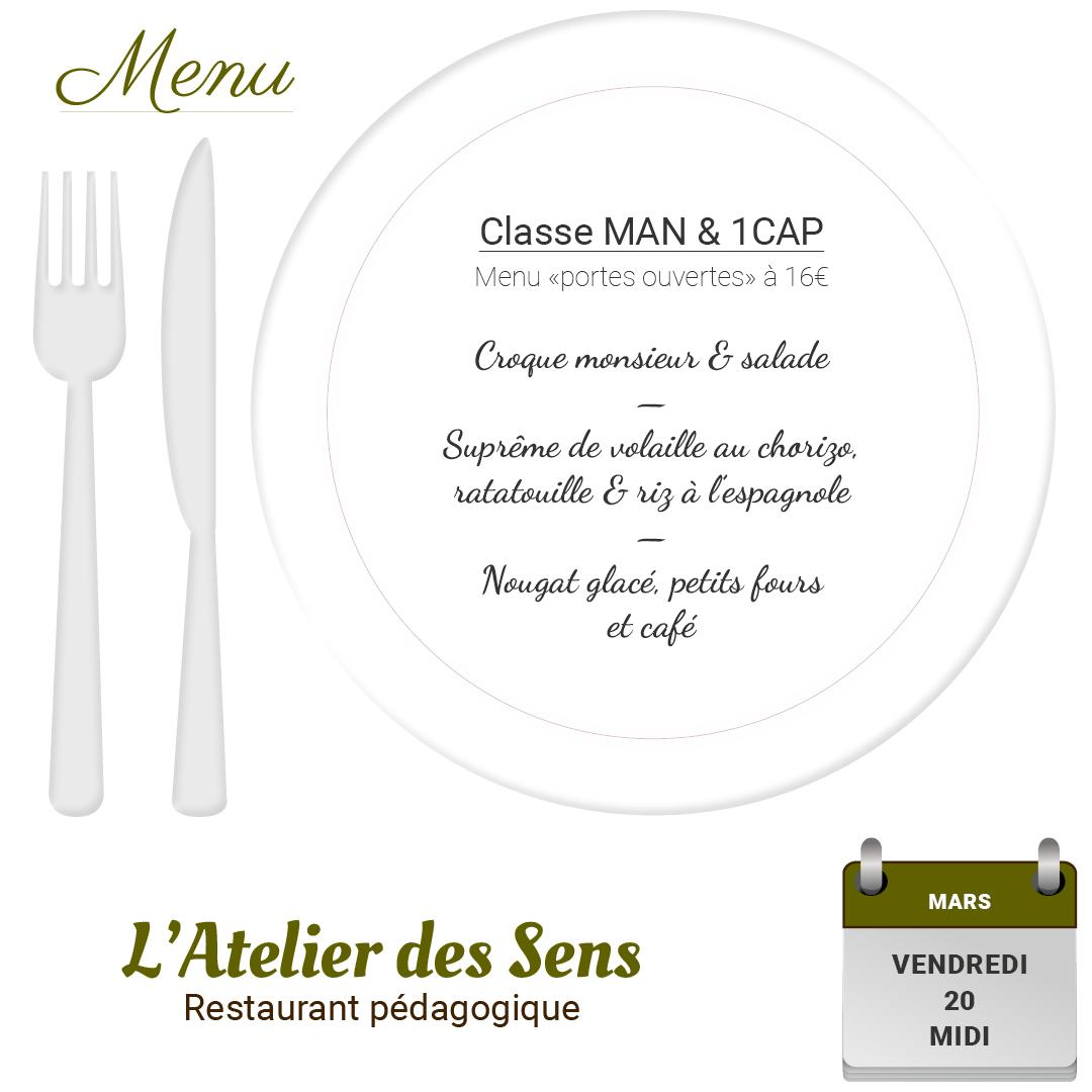 Restaurant l atelier des sens 20 03 2020 midi