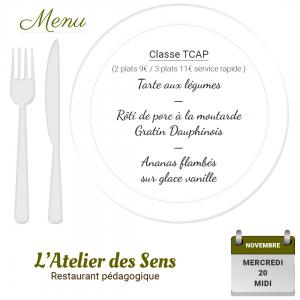 Restaurant l atelier des sens 20 11 19 midi