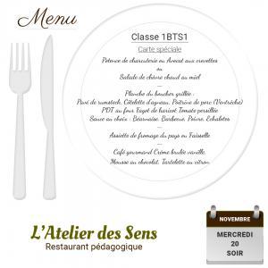 Restaurant l atelier des sens 20 11 19 soir