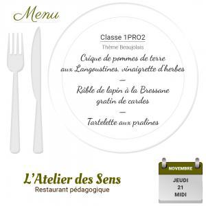 Restaurant l atelier des sens 21 11 19 midi