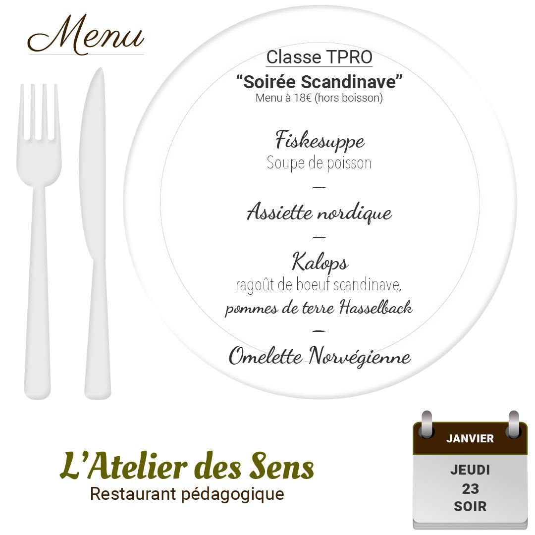 Restaurant l atelier des sens 23 01 2020 soir