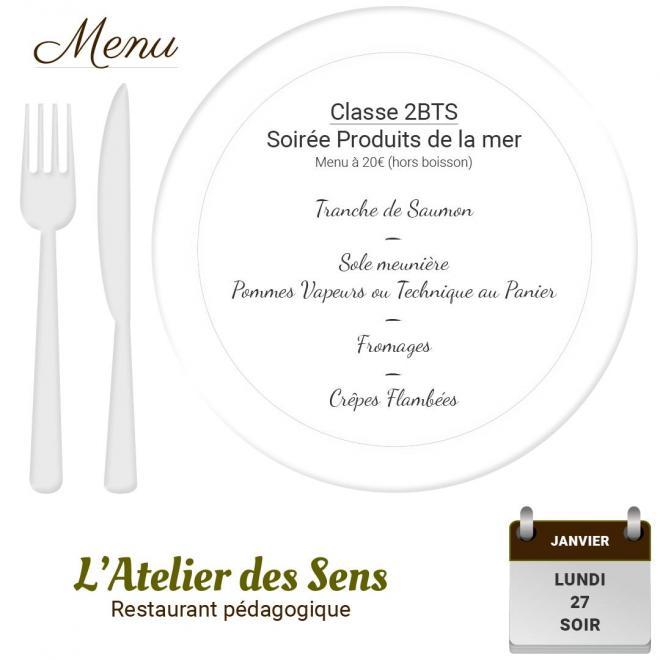 Restaurant l atelier des sens 27 01 2020 soir