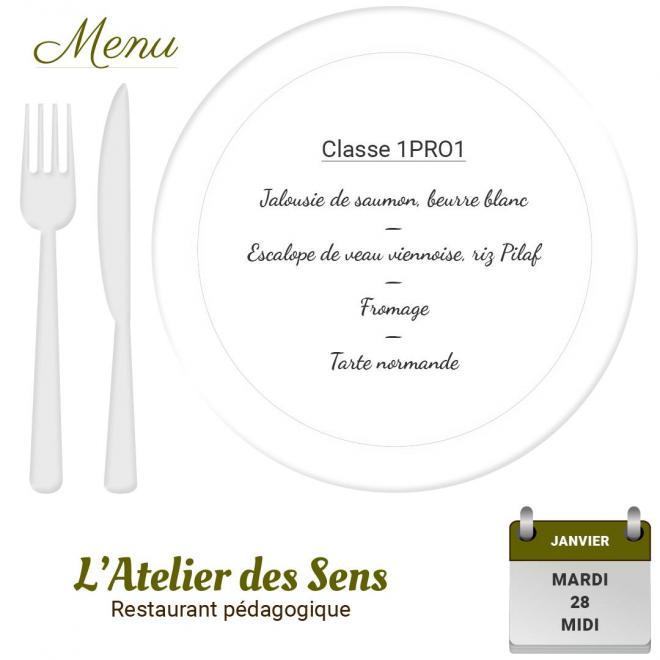 Restaurant l atelier des sens 28 01 2020 midi