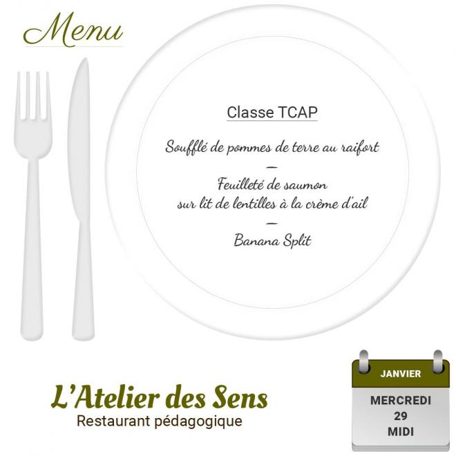 Restaurant l'Atelier des Sens 29 01 2020 midi