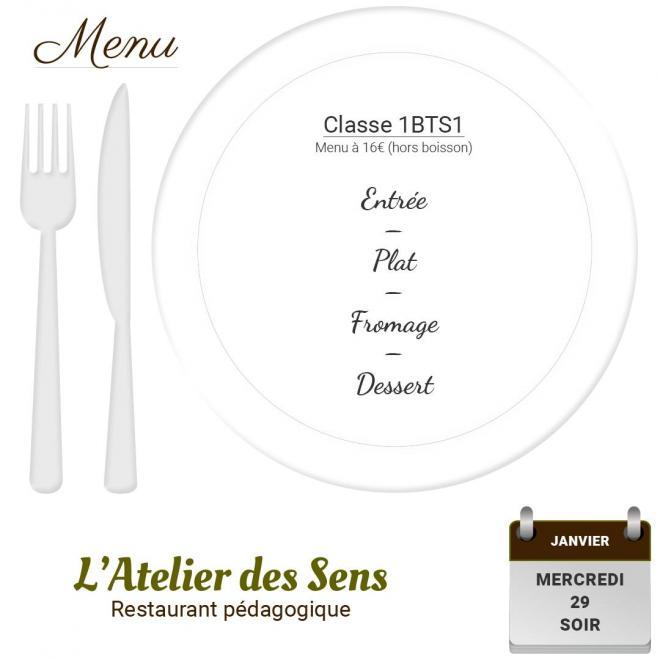 Restaurant l atelier des sens 29 01 20 soir