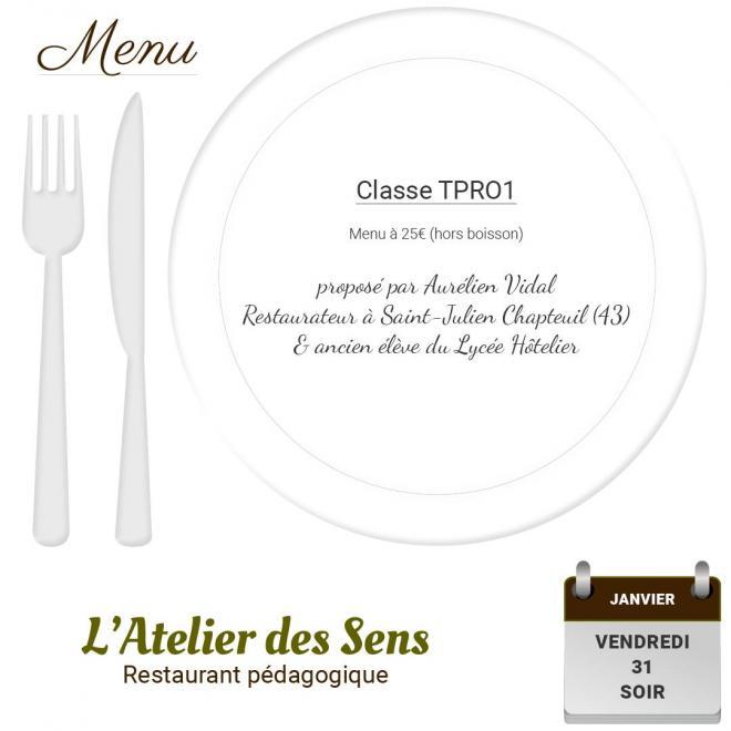 Restaurant l atelier des sens 31 01 20 soir
