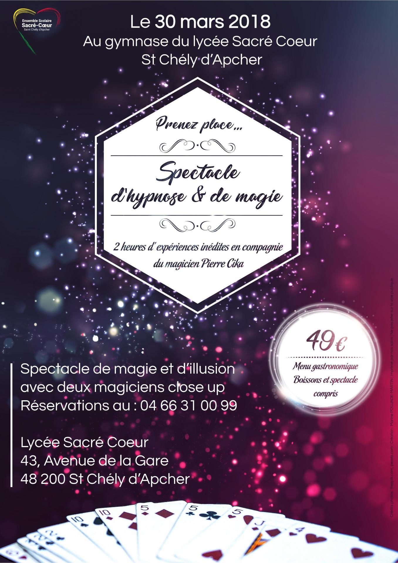 #Soirée Gastronomique - Hypnose et Magie le 30 mars 2018