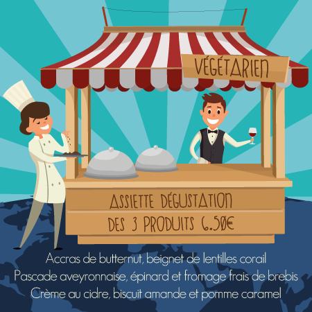 Stand vegetarien