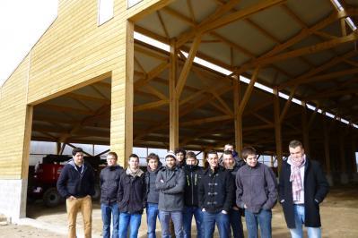 Visite 2btsi scbh 27 fvrier 2014 chantier batiment agricole construction orlhac st chely