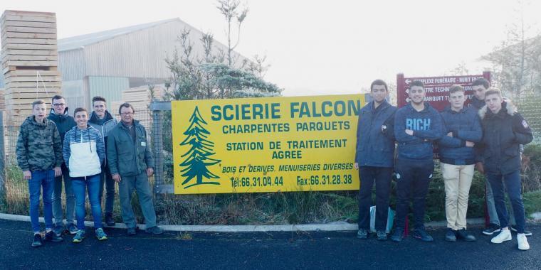 Visite de la scierie Falcon à Saint-Chely d'Apcher